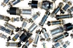 Vacuum electronic tubes  on white background Stock Photography