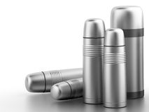 Vacuum flask (thermos) Royalty Free Stock Photos