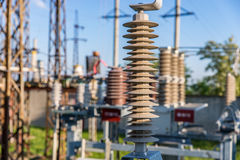 Vacuum high-voltage electrical equipment Royalty Free Stock Photo