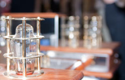 Vacuum lamp on tube amplifier Royalty Free Stock Images