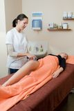 Vacuum lpg massage Royalty Free Stock Photos