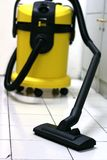 Vacuum machine. For clean carpet etc stock images