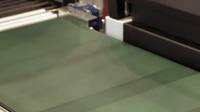Vacuum package machine on conveyor belt stock video