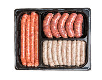 Vacuum package of sausages. Royalty Free Stock Image