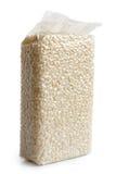 Vacuum packed Arborio short grain white rice. Vacuum packed Arborio short grain white rice isolated on white Royalty Free Stock Photo