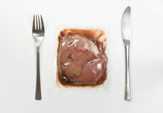 Vacuum-packed meat Royalty Free Stock Photography