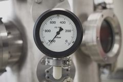 Vacuum pressure gauge stock images
