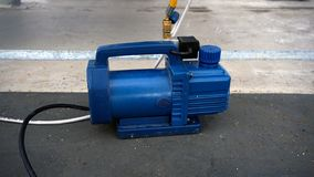 Vacuum pump. Oil-lubricate rotary vane stock photography