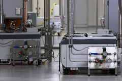 Vacuum pumps. For hightech cleanroom processes Stock Images