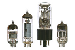 Vacuum radio tubes Stock Photography