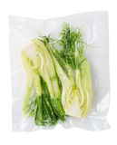 Vacuum sealed fennel Stock Image