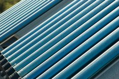 Vacuum solar water heating system Royalty Free Stock Images