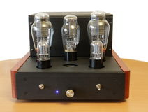 Vacuum tube amplifier Royalty Free Stock Images