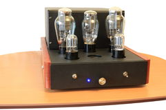 Vacuum tube amplifier on 300B stock images
