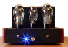 Vacuum tube amplifier Stock Photography