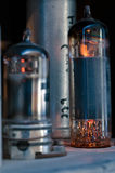 Vacuum Tubes Glowing Royalty Free Stock Photography