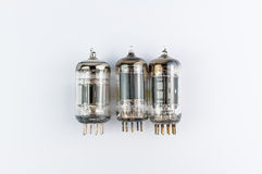 Vacuum tubes. On white background Royalty Free Stock Photos