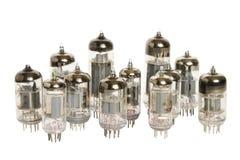 Vacuum tubes on white background. Vacuum tubes isolated on white background Stock Photos