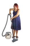 vacuuming image stock