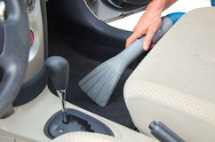 Vacuuming a car interior automobile detailing Stock Photography