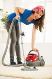 Vacuuming Carpet Stock Photos