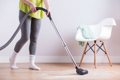 Vacuuming the dust royalty free stock photos