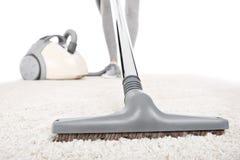 Vacuuming dywan Fotografia Royalty Free