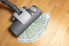 Vacuuming money Royalty Free Stock Photos