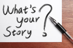 Vad är din berättelse fotografering för bildbyråer