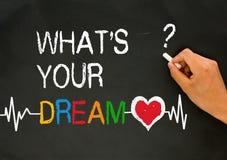Vad är din dröm arkivfoto