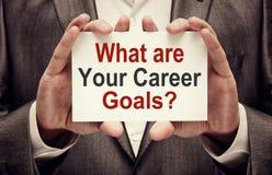 Vad är dina karriärmål Arkivfoto