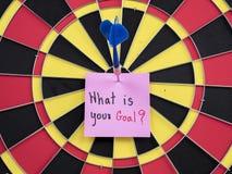 Vad är ditt mål 1 Fotografering för Bildbyråer