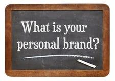 Vad är ditt personliga märke? Royaltyfria Foton