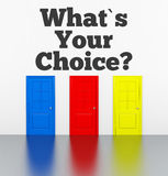 Vad är ditt val? Royaltyfri Fotografi