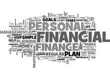 Vad är en karriär i det personliga Financeword molnet stock illustrationer