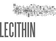 Vad är Lecithinordmolnet vektor illustrationer