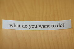 Vad önskar du att göra? Arkivbilder
