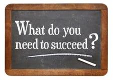 Vad behöver du för att lyckas? Arkivfoton