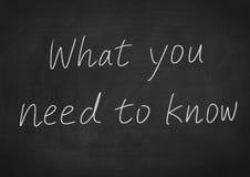 Vad du behöver att veta Arkivbild