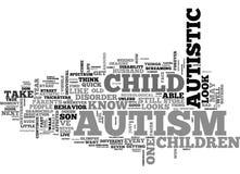 Vad gör det autismblickLikeword molnet vektor illustrationer