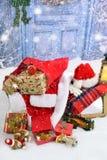 Vad hände till Santa Claus arkivbild