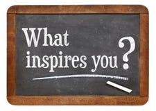 Vad inspirerar dig frågan Arkivfoton