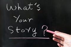 Vad är din berättelse Arkivfoto