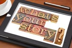 Vad är din berättelsefråga Royaltyfri Foto