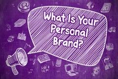 Vad är ditt personliga märke - affärsidé Arkivbilder