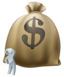 Vad som ska göras med ditt pengarbegrepp Arkivbilder