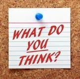 Vad tänker du? Arkivfoton