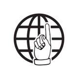 Vada all'icona di web Illustrazione piana di vettore di Internet per il sito Web sopra Immagine Stock