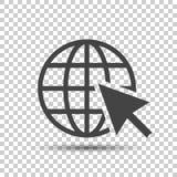 Vada all'icona di web Illustrazione piana di vettore di Internet per il sito Web sopra Fotografia Stock Libera da Diritti