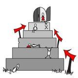 Vada allo scopo Vestito rosso royalty illustrazione gratis